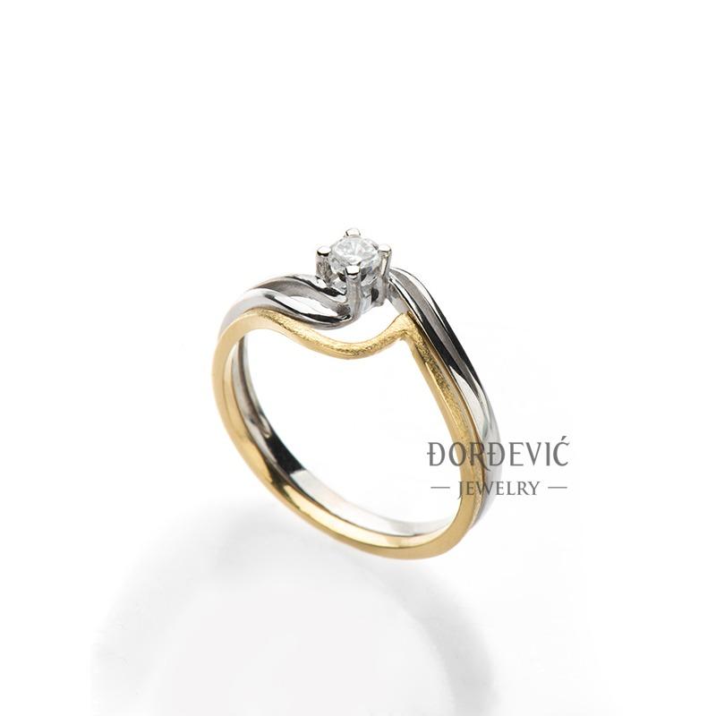 verenički prsten od belog i žutog zlata (Beograd, Srbija)