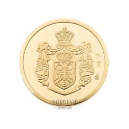 Dukat zlatnik Grb Srbije